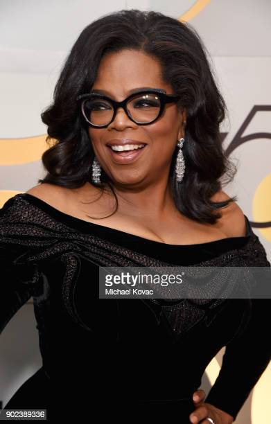 Oprah Winfrey celebrates The 75th Annual Golden Globe Awards with Moet Chandon at The Beverly Hilton Hotel on January 7 2018 in Beverly Hills...