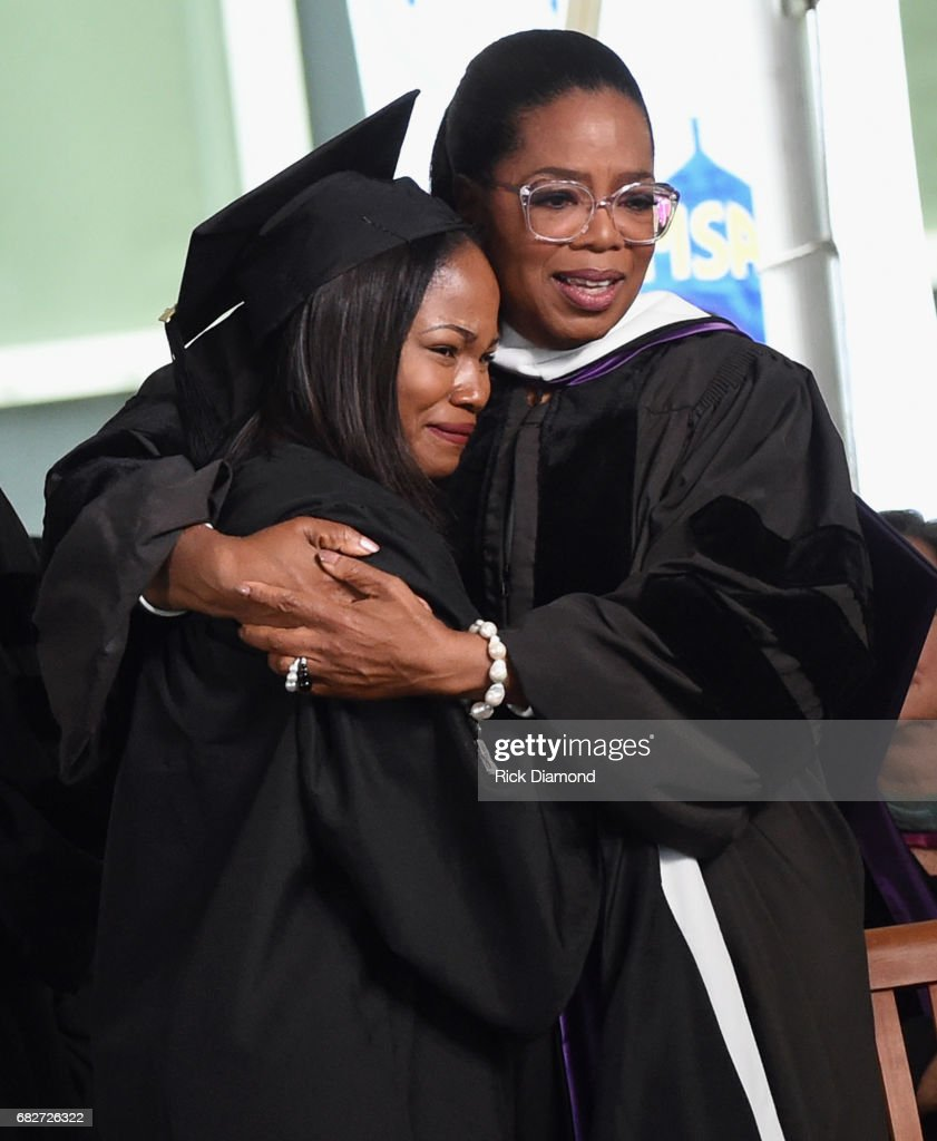 Oprah Winfrey Daughter-Girl Sithokomele P. Mabaso alumni of Oprah Winfrey Leadership Academy for Girls in South Africa gradulates Agnes Scott College where Oprah Winfrey gave today's Commencement Address on May 13, 2017 in Decatur, Georgia.