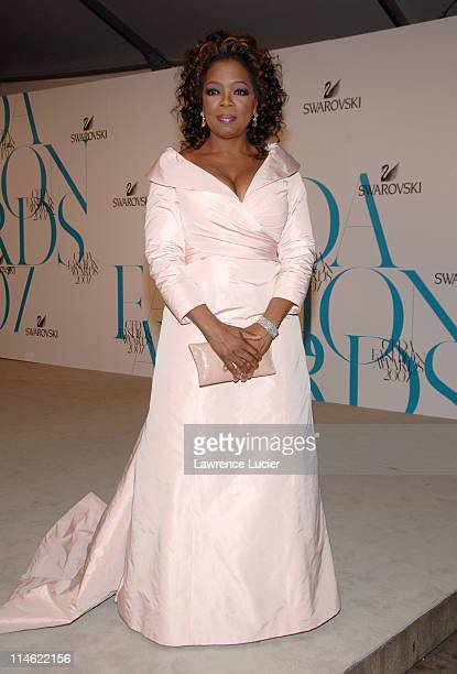 Oprah Winfrey during 2007 CFDA Fashion Awards Red Carpet at New York Public Library in New York City New York United States
