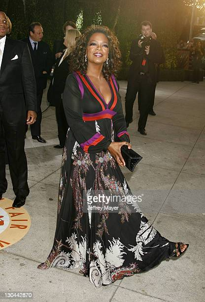 Oprah Winfrey during 2007 Vanity Fair Oscar Party Hosted by Graydon Carter Arrivals at Mortons in West Hollywood California United States