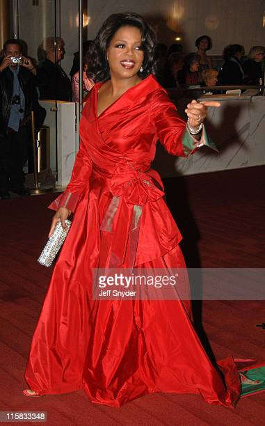 Oprah Winfrey during The 28th Annual Kennedy Center Honors Arrivals at The Kennedy Center for the Perfoming Arts in Washington DC United States