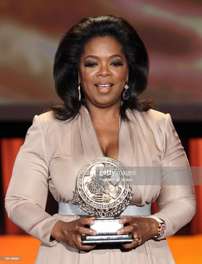 Maria shrivers womens conference 2010 day 3 photos and images oprah winfrey is honored with minerva award at maria shriver womens conference at the long beach aiddatafo Images