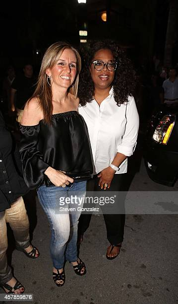 Oprah Winfrey is sighted leaving Prime 112 Steakhouse on October 25 2014 in Miami Florida