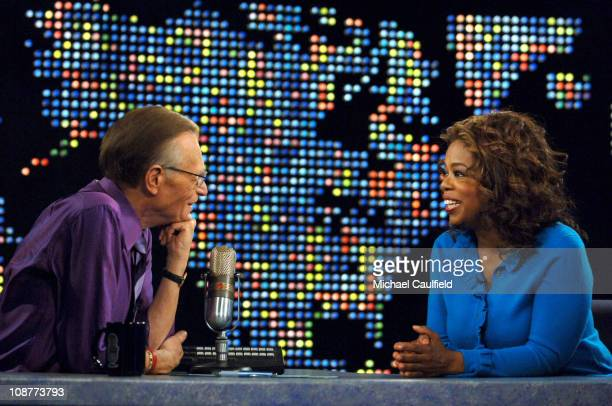 Oprah Winfrey joins Larry King for his 50th anniversary in broadcasting in an interview that airs Monday April 16 at 9pmET on CNN 13290_038JPG...