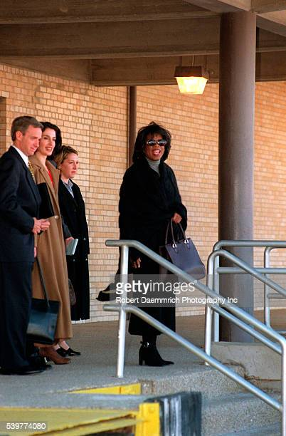 Oprah Winfrey Leaving Amarillo Courthouse