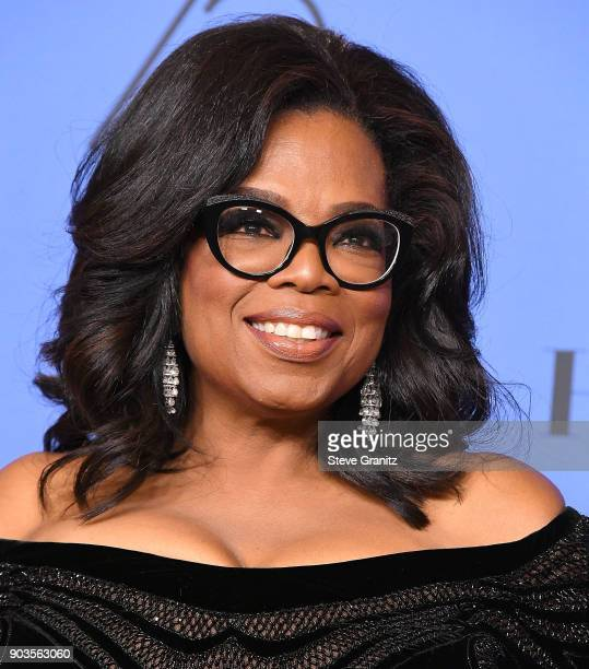 Oprah Winfrey poses at the 75th Annual Golden Globe Awards at The Beverly Hilton Hotel on January 7 2018 in Beverly Hills California