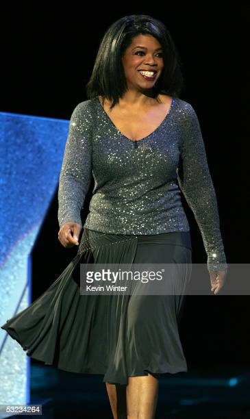 Oprah Winfrey presents the Arthur Ashe Courage Award onstage at the 13th Annual ESPY Awards at the Kodak Theatre on July 13 2005 in Hollywood...