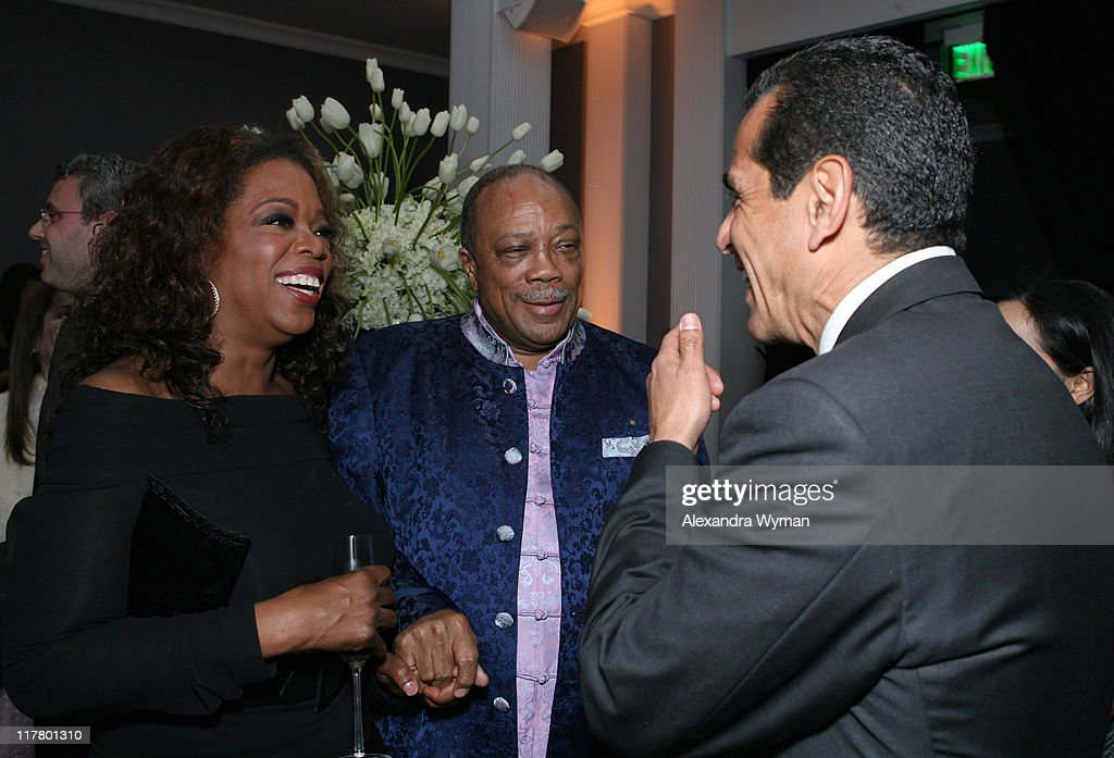 Oprah Winfrey, Quincy Jones and Mayor Antonio Villaraigosa