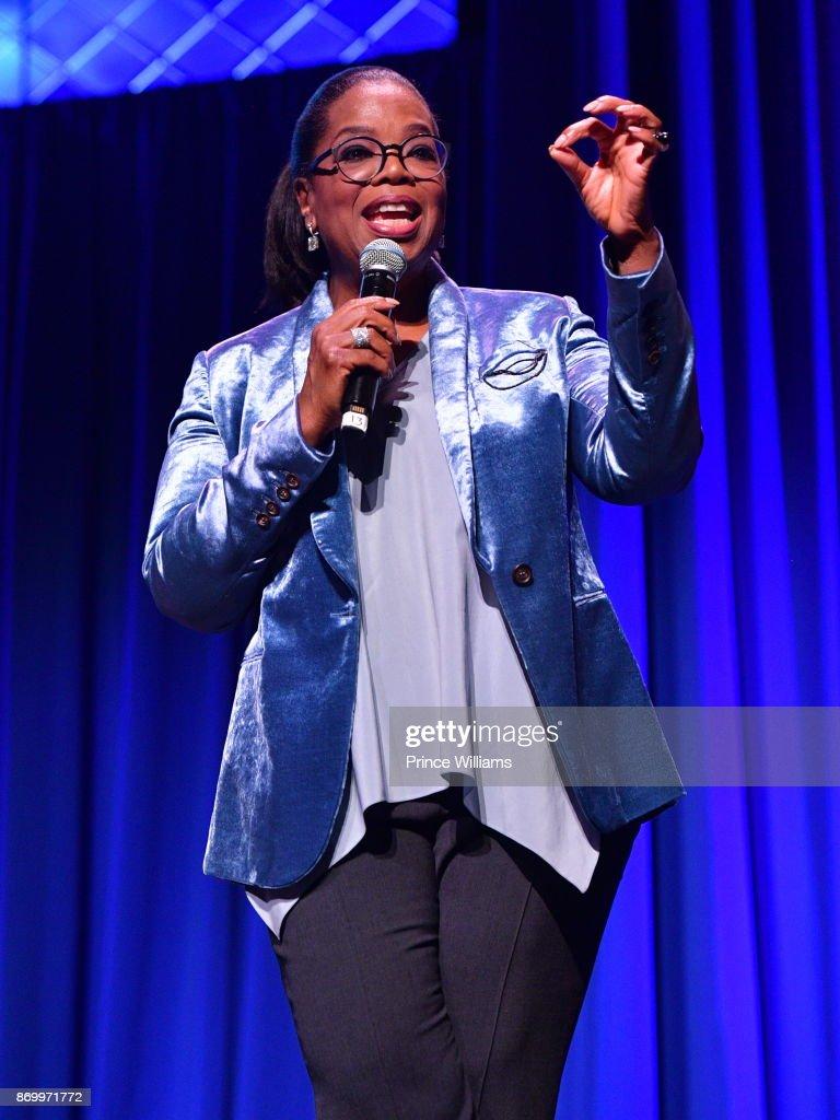 Oprah Winfrey Speaks at Ron Clark Academy 10 Year Celebration at The Ron Clark Academy on November 3, 2017 in Atlanta, Georgia.