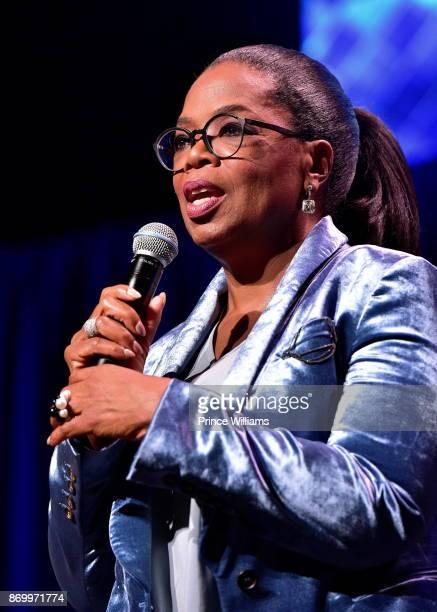 Oprah Winfrey Speaks at Ron Clark Academy 10 Year Celebration at The Ron Clark Academy on November 3 2017 in Atlanta Georgia