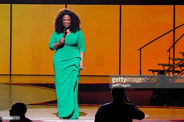 Oprah Winfrey speaks at The Palace of Auburn Hills for her Life You Want Tour on September 12 2014 in Auburn Hills Michigan