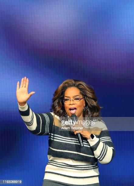 Oprah Winfrey speaks during her Oprah's 2020 Vision Your Life in Focus Tour presented by WW at Xcel Energy Center on January 11 2020 in St Paul...