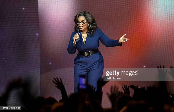 Oprah Winfrey speaks during Oprah's 2020 Vision: Your Life in Focus Tour presented by WW at Spectrum Center on January 18, 2020 in Charlotte, North...