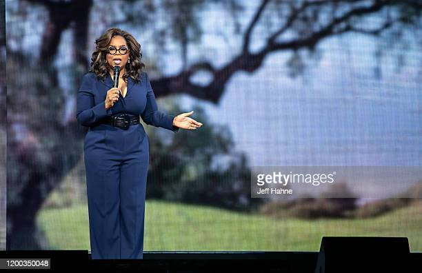 Oprah Winfrey speaks during Oprah's 2020 Vision Your Life in Focus Tour presented by WW at Spectrum Center on January 18 2020 in Charlotte North...