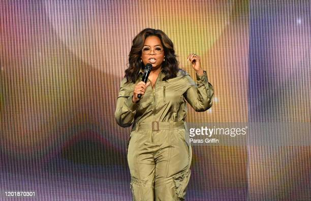 Oprah Winfrey speaks during Oprah's 2020 Vision Your Life in Focus Tour presented by WW at State Farm Arena on January 25 2020 in Atlanta Georgia