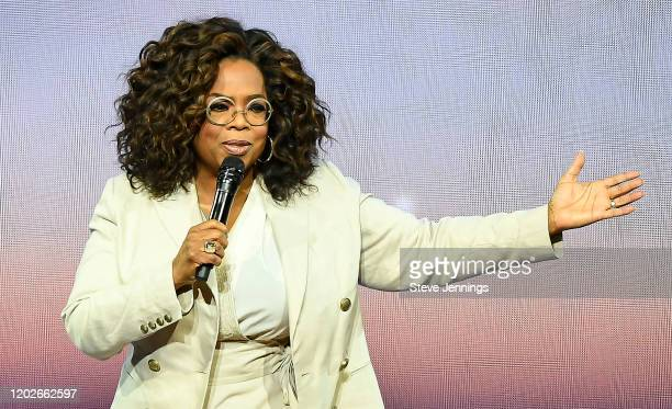 Oprah Winfrey speaks during Oprah's 2020 Vision Your Life in Focus Tour presented by WW at Chase Center on February 22 2020 in San Francisco...