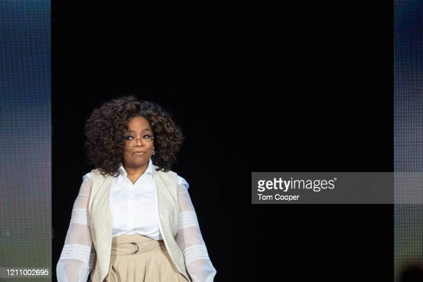 Oprah Winfrey speaks during Oprah's 2020 Vision Your Life in Focus Tour presented by WW at Pepsi Center on March 07 2020 in Denver Colorado