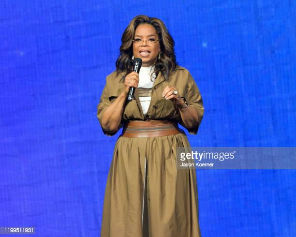 Oprah Winfrey speaks during the WW Oprah's 2020 Vision Your Life In Focus Tour at BBT Center on January 04 2020 in Sunrise Florida