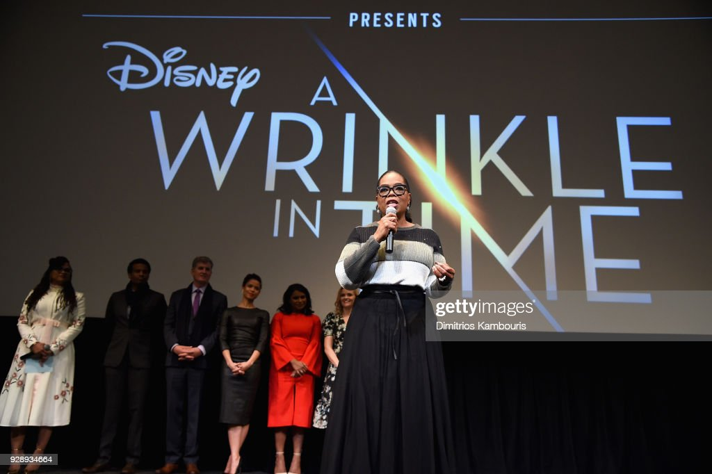 Oprah Winfrey speaks on stage as O, The Oprah Magazine hosts special NYC screening of 'A Wrinkle In Time' at Walter Reade Theater at Walter Reade Theater on March 7, 2018 in New York City.