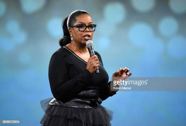 Oprah Winfrey speaks on stage during The Robin Hood Foundation's 2018 benefit at Jacob Javitz Center on May 14 2018 in New York City