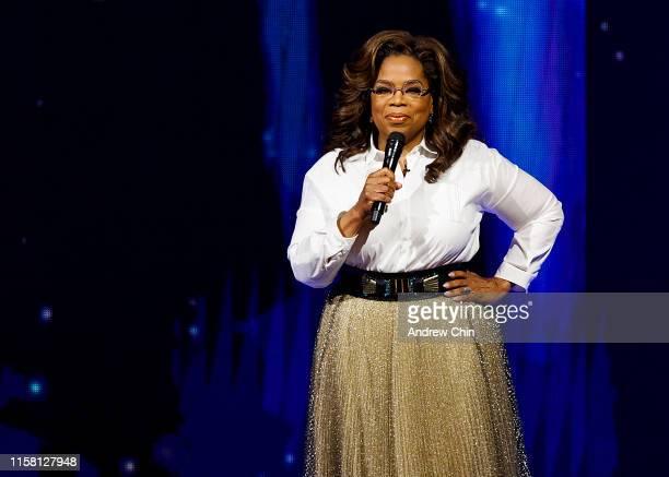 Oprah Winfrey speaks onstage at Rogers Arena on June 24, 2019 in Vancouver, Canada.