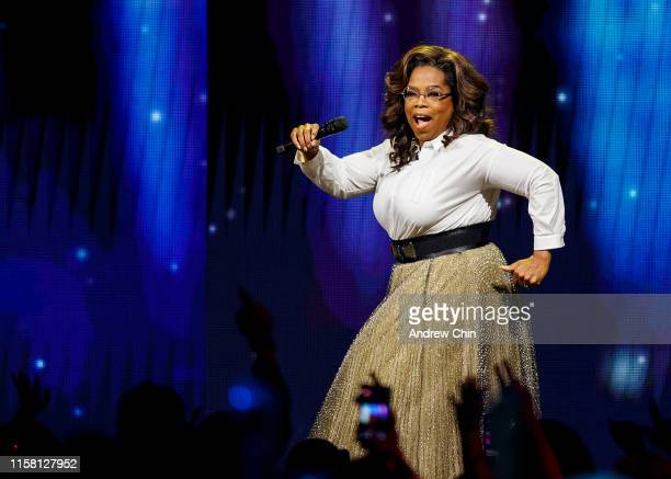 Oprah Winfrey speaks onstage at Rogers Arena on June 24 2019 in Vancouver Canada