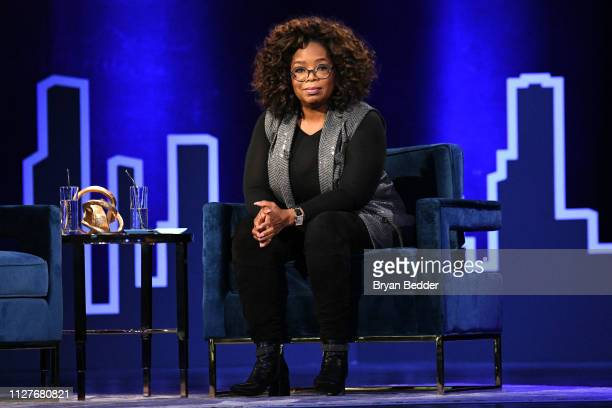Oprah Winfrey speaks onstage during Oprah's SuperSoul Conversations at PlayStation Theater on February 05 2019 in New York City