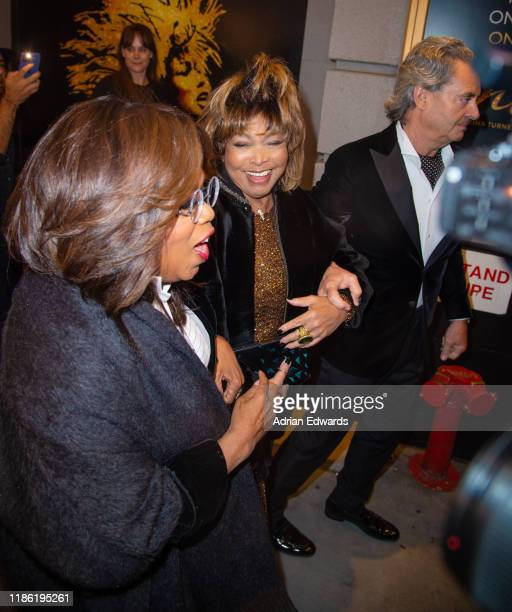 "Oprah Winfrey, Tina Turner and Erwin Bach attend the opening night of ""Tina - The Tina Turner Musical"" on Broadway on November 7, 2019 in New York..."