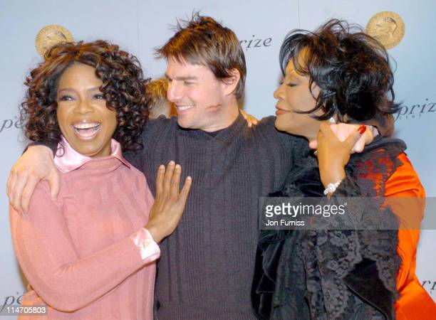 Oprah Winfrey Tom Cruise and Patti LaBelle during 2004 Nobel Peace Prize Press Conference at Radisson Plaza Hotel in Oslo Norway