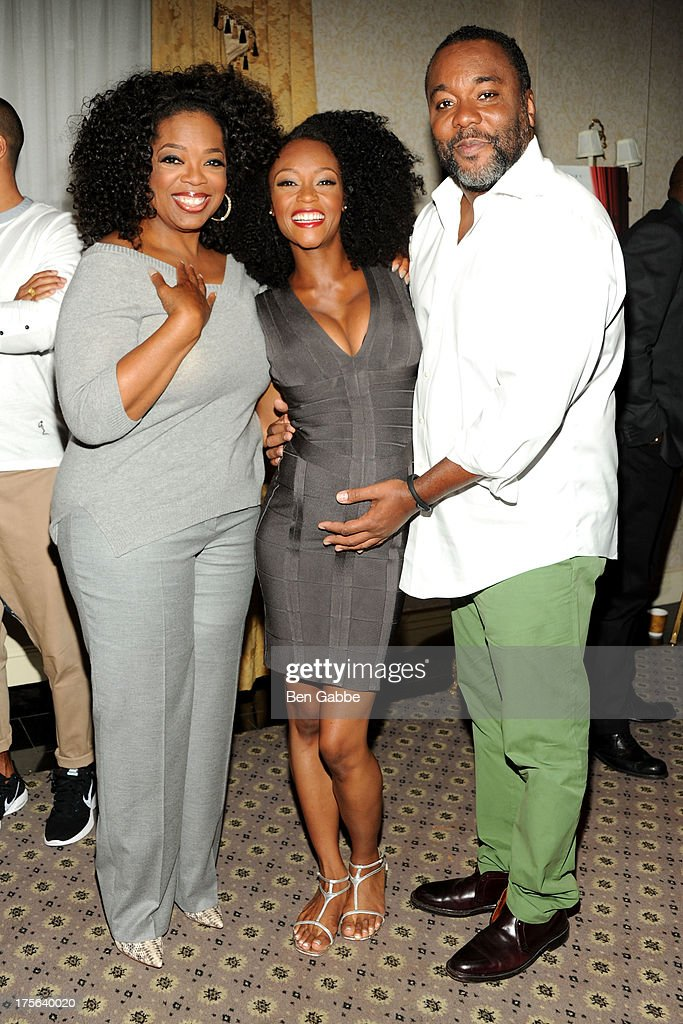 Oprah Winfrey, Yaya Alafia and director Lee Daniels attend the press conference for The Weinstein Company's LEE DANIELS' THE BUTLER at Waldorf Astoria Hotel on August 5, 2013 in New York City.