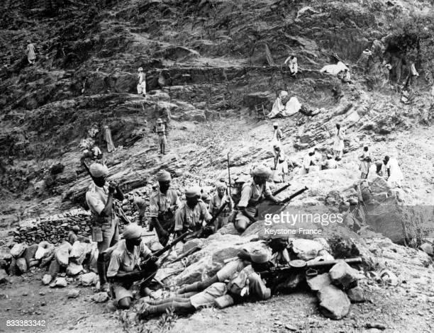 Opération des troupes britanniques et indigènes dans les régions situées à proximité de la frontière afghane en Inde en 1933