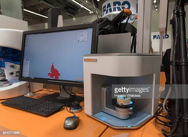 Optical dental scanner DS30 at Renishaw stand in Euromold 2014 Frankfurt Germany 27 November 2014 EuroMold is the world trade fair for Moldmaking and...