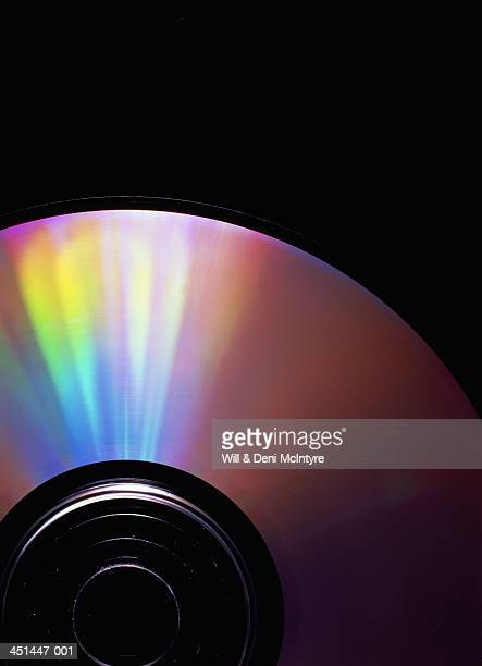 Optical disc, close-up