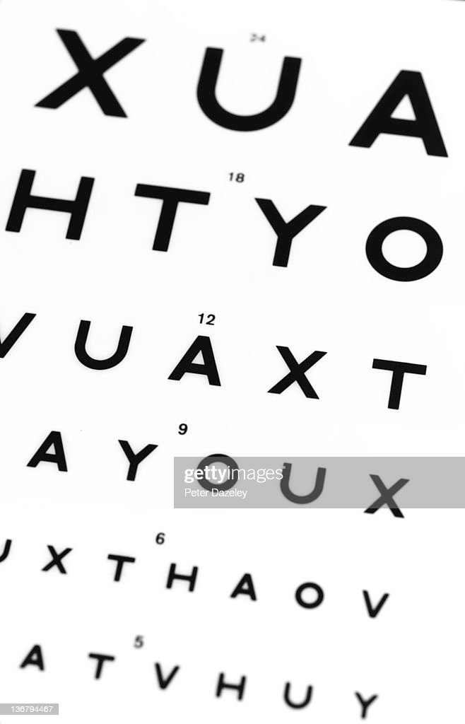 Optical Eye Test Chart Stock Photo Getty Images