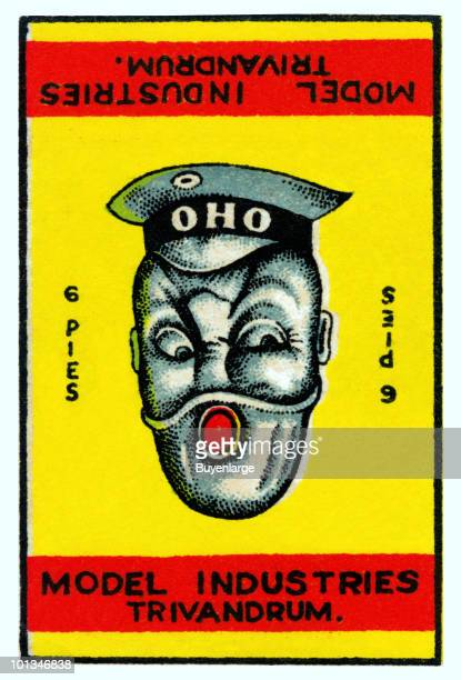 Optical illusion card features a reversible image of a sailor or a policeman depending upon when way the image is oriented The text refers to 'Oho...