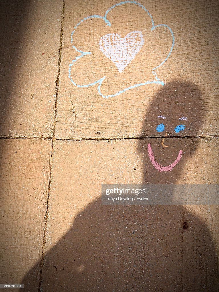 Optical Illusion Of Shadow Falling On Smiley Face By Thought Bubble ...