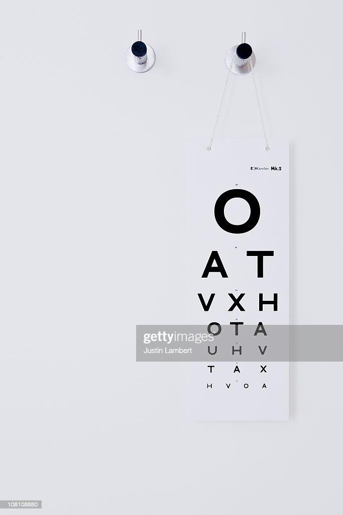 Opticians Test Chart : Foto de stock