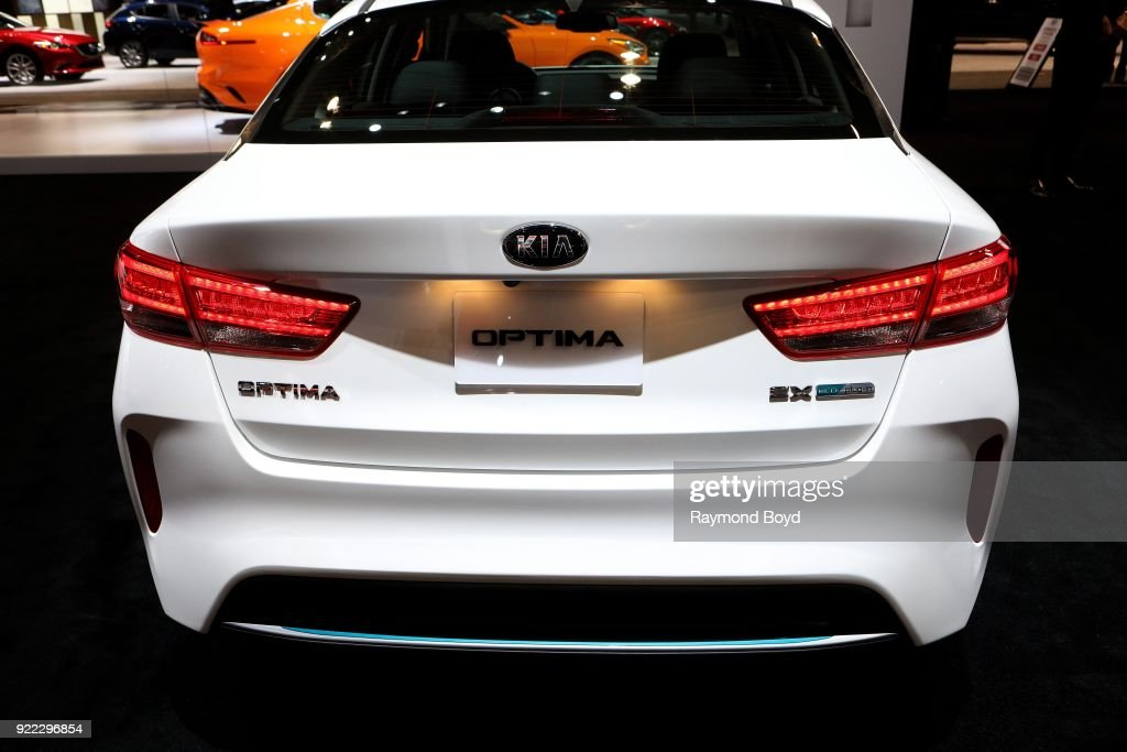 Optima is on display at the 110th Annual Chicago Auto Show at McCormick Place in Chicago, Illinois on February 9, 2018.