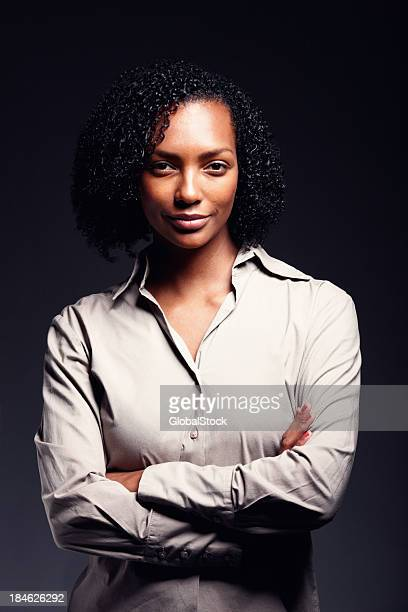 Optimistic African American woman