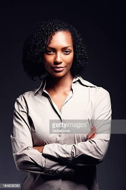 Optimiste femme afro-américaine