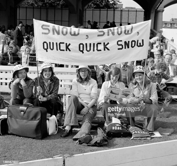 Optimistic Sussex supporters with their banner in homage to fast bowler John Snow prior to the Gillette Cup Final between Gloucestershire and Sussex...