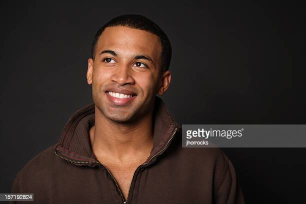 Optimistic Young African American Man