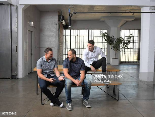 Opus Bank and The Thompson Family BehindtheScenes at the 'Solid Foundation' Video Shoot December 17 2017 in Los Angeles California Pictured from left...