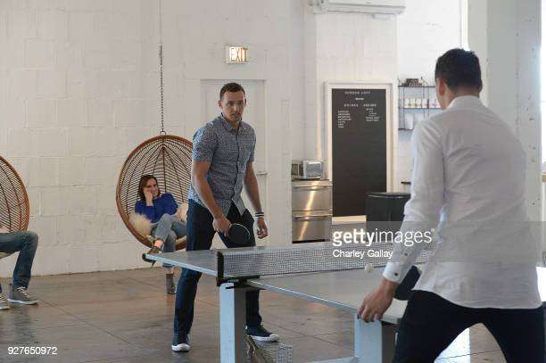Opus Bank and The Thompson Family BehindtheScenes at the 'Solid Foundation' Video Shoot December 17 2017 in Los Angeles California Pictured Trayce...