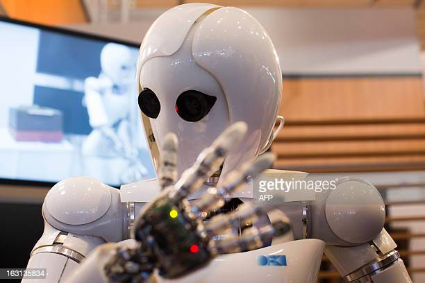 Or Artificial Intelligence Lightweight Android, is pictured during a demonstration at the German Research Center for Artificial Intelligence GmbH...