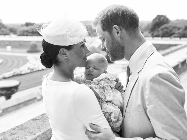GBR: Official Photographs From The Christening Of Archie Harrison Mountbatten-Windsor