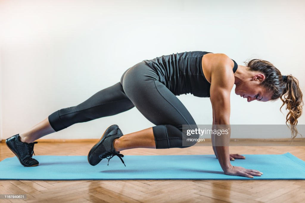 HIIT or High Intensity Interval Training : Stock Photo