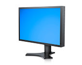 LCD or TFT Computer monitor with clipping path