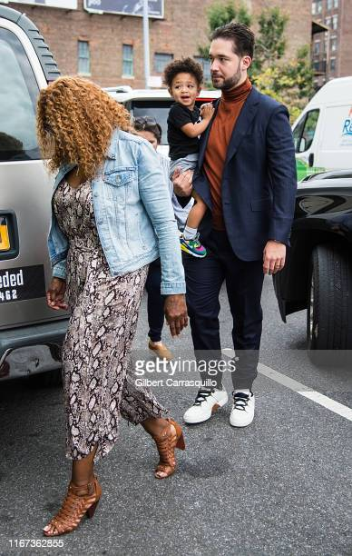 Oracene Price, Alexis Ohanian and daughter Alexis Olympia Ohanian Jr. Are seen arriving to S by Serena Williams Fashion Show during New York Fashion...