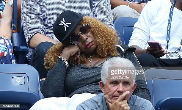 Oracene Price attends daughters Venus and Serena Williams backtoback matches at Arthur Ashe Stadium on day 8 of the 2016 US Open at USTA Billie Jean...